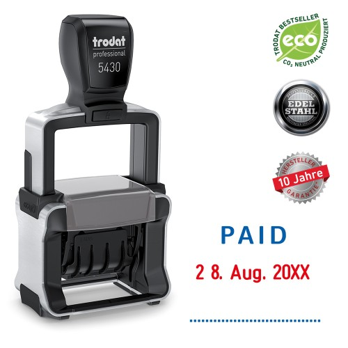 Trodat date stamp 5430/L - PAID